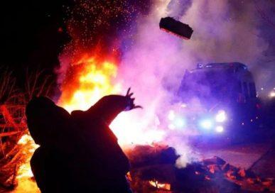 युक्रेनि नागरीक सवार बसमाथि आक्रमण