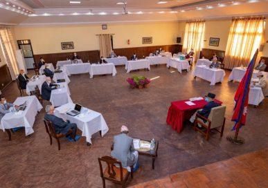 मन्त्रिपरिषद् बैठक केहिबेरमा बालुवाटारमा शुरू हुँदै