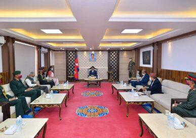 प्रधानमन्त्री भेट्न बालुवाटार पुगे भारतीय सेनाध्यक्ष नरवणे