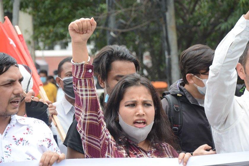 भारतीय एसएसबीको ज्यादती बिरुद्ध लैनचौरमा अखिल क्रान्तिकारीको प्रदर्शन (फोटोफिचर)