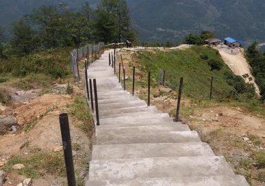 चण्डेश्वरीदेखि गोसाईंस्थानसम्म पर्यटकीय पदमार्ग निर्माण शुरु
