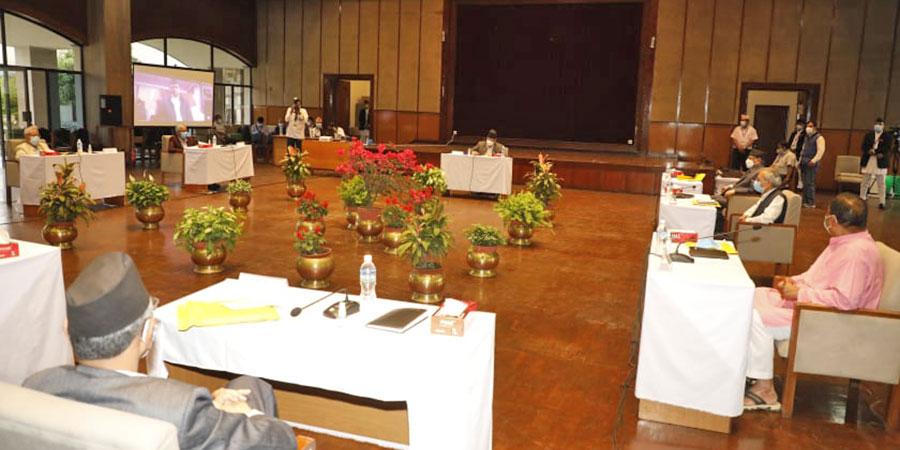 सभामुखको आह्वानमा सर्वदलीय बैठक सुरुः अध्यक्ष ओली अनुपस्थित