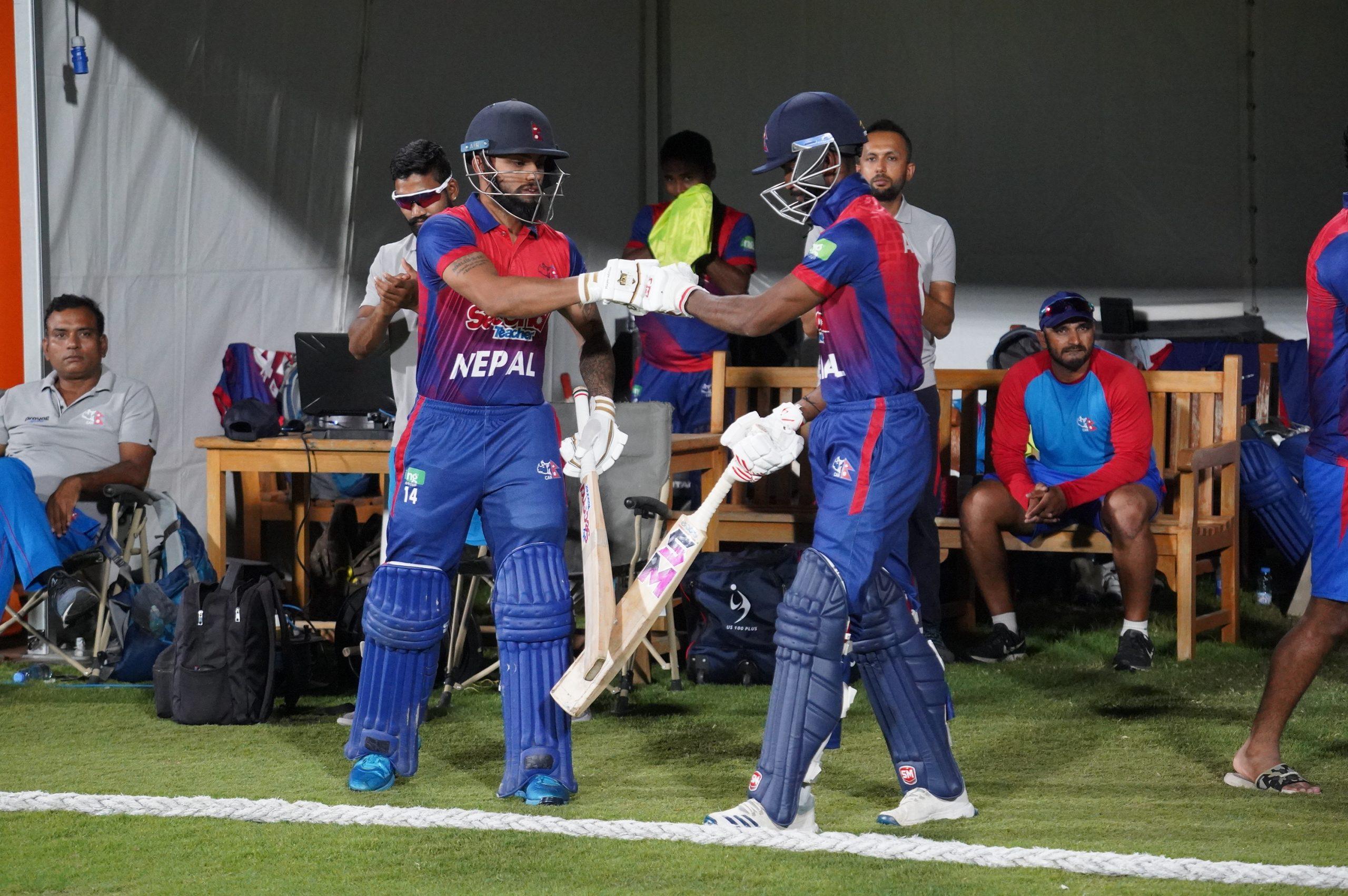 आईसीसी विश्वकप क्रिकेट लिग-२ : नेपाल ओमान भिड्दै