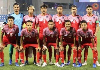 विश्वकप छनौटको मैत्रिपुर्ण खेल अन्तर्गत नेपाल म्यानमारसँग खेल्दै
